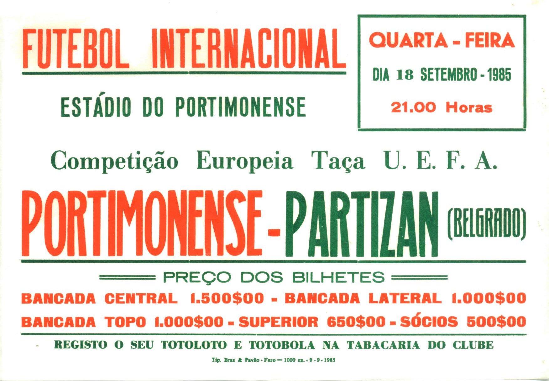 Futebol Europeu em Portimão