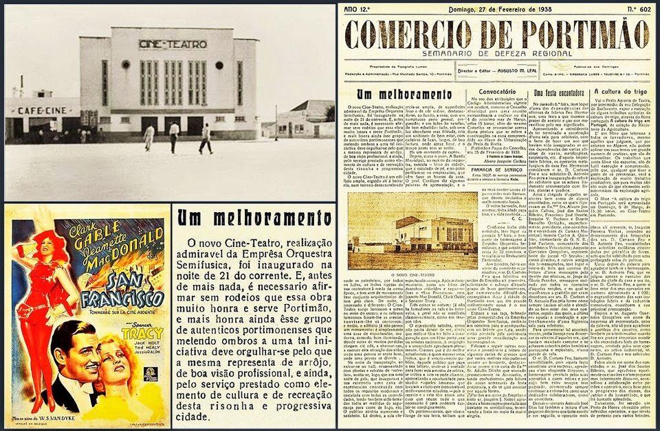 A inauguração do Cine-Teatro de Portimão
