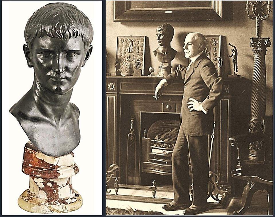 Busto de um romano em bronze